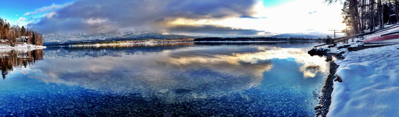 Photo of Whitefish Lake by my beautiful sister, Suzanne